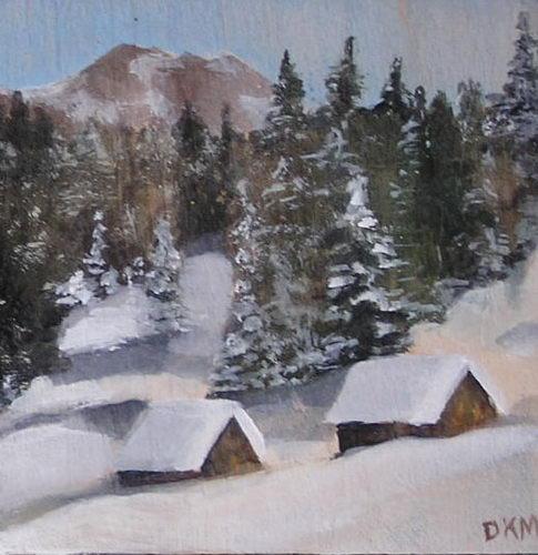 Konsuela Madejska-Turska: Dolinka zimowa z szałasami