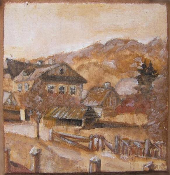 Konsuela Madejska-Turska: Dolne Krupówki, wg fotografii Walerego Eljasza, ok. 1903 r.