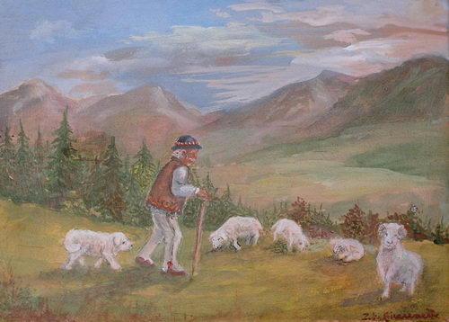 Zofia Biernacik: Baca z owieczkami